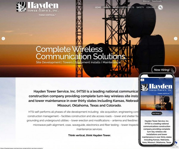 Umbrella website for Hayden Tower.