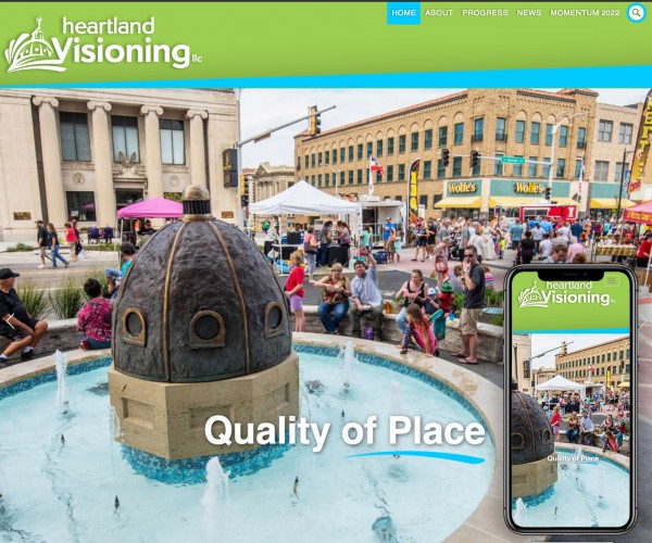 Umbrella website for Heartland Visioning.