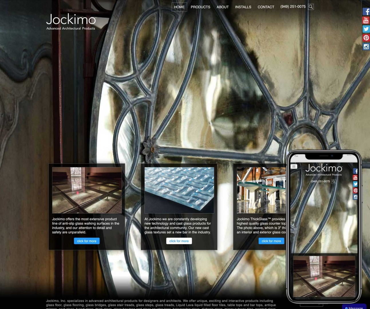 Umbrella website for Jockimo.