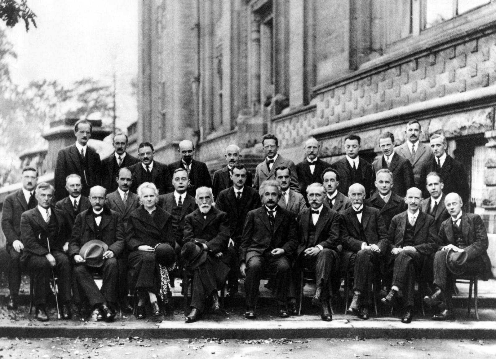 Albert Einstein at Sovay Conference 1927